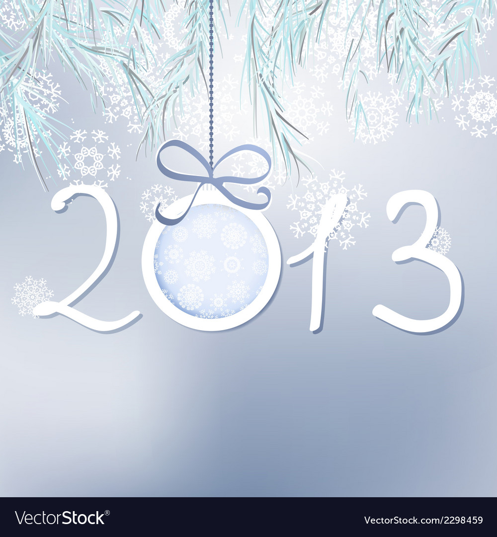 2013 happy new year background  eps8 vector | Price: 1 Credit (USD $1)