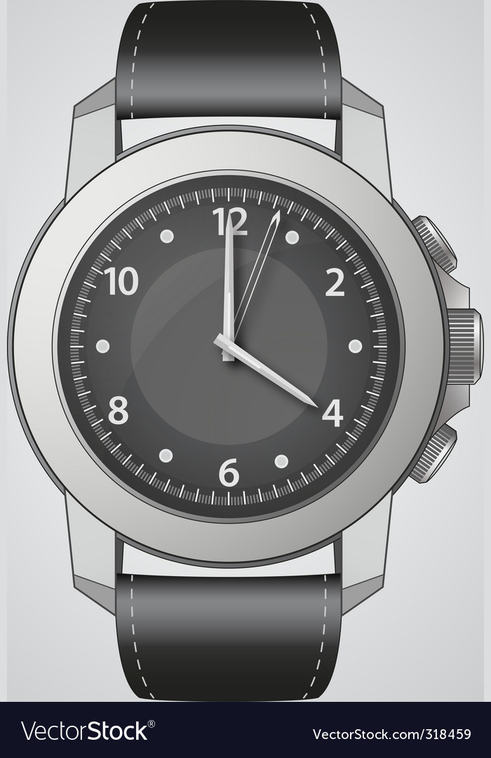 Analog watch vector | Price: 3 Credit (USD $3)