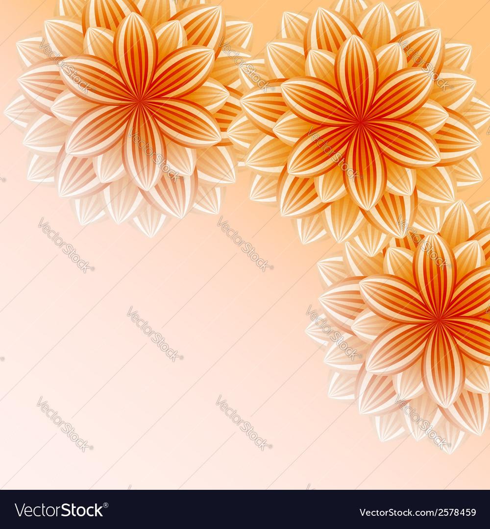 Beautiful wallpaper with orange flowers vector | Price: 1 Credit (USD $1)