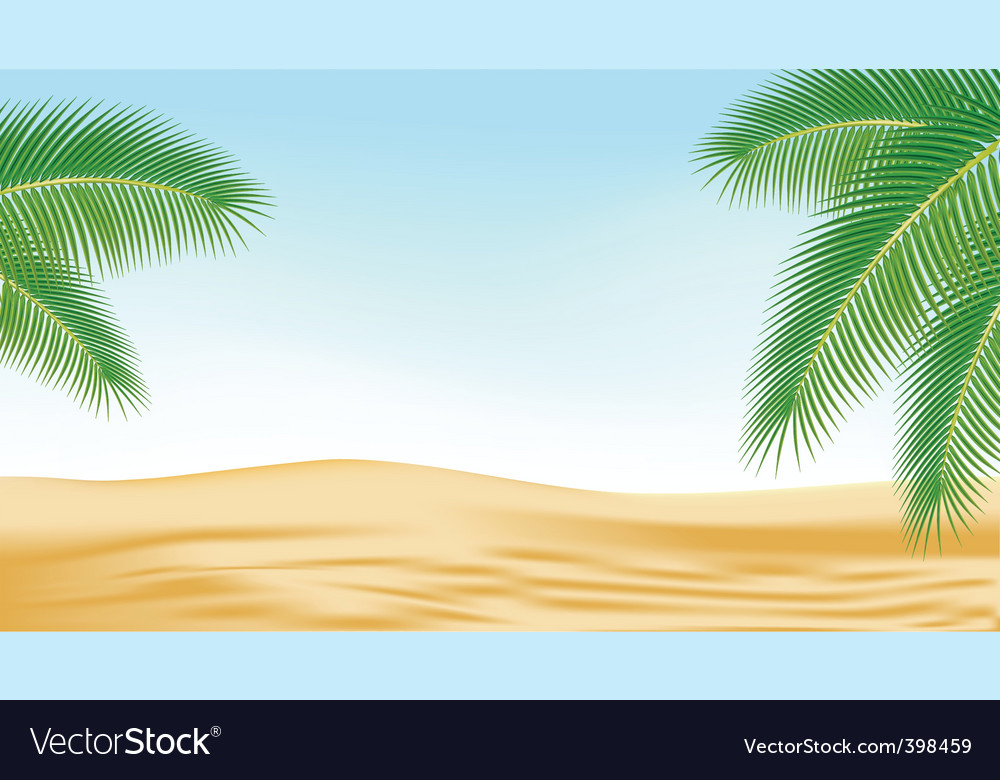 Branches of palm trees against vector | Price: 1 Credit (USD $1)