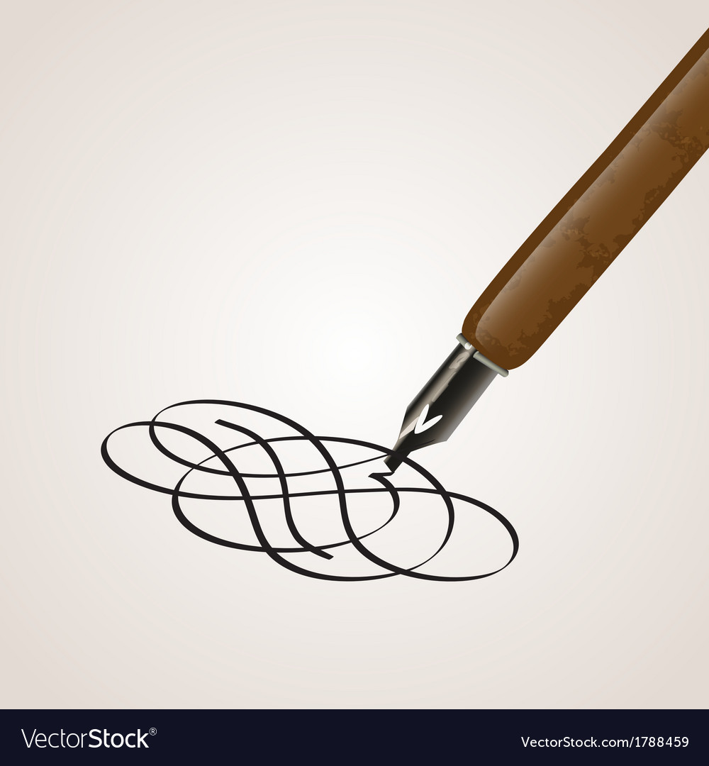 Calligraphy pen made of a twirl vector | Price: 1 Credit (USD $1)