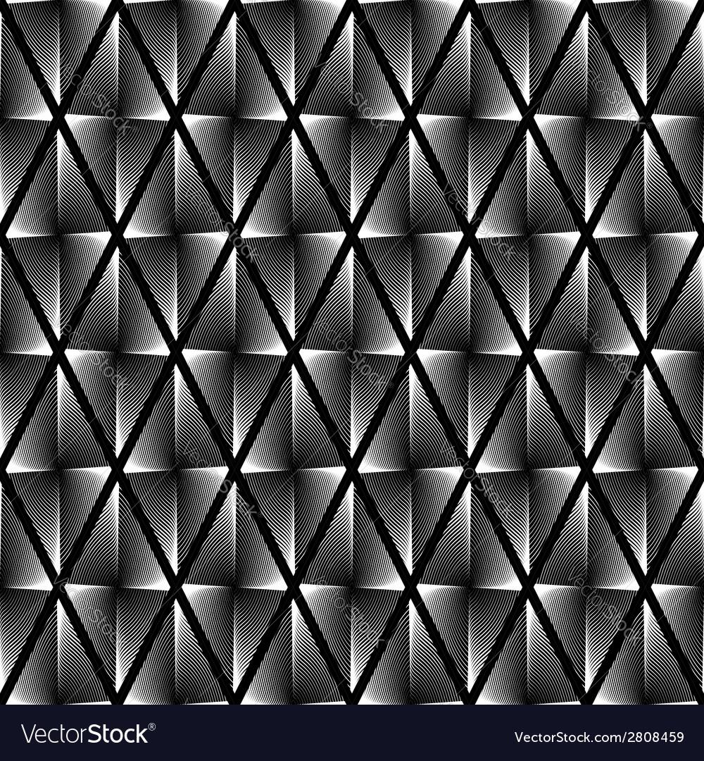 Design seamless monochrome geometric pattern vector | Price: 1 Credit (USD $1)