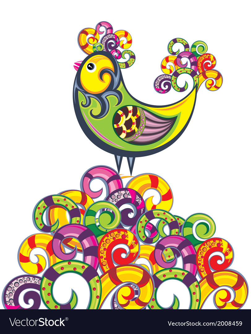 Easter card with chicken vector | Price: 1 Credit (USD $1)
