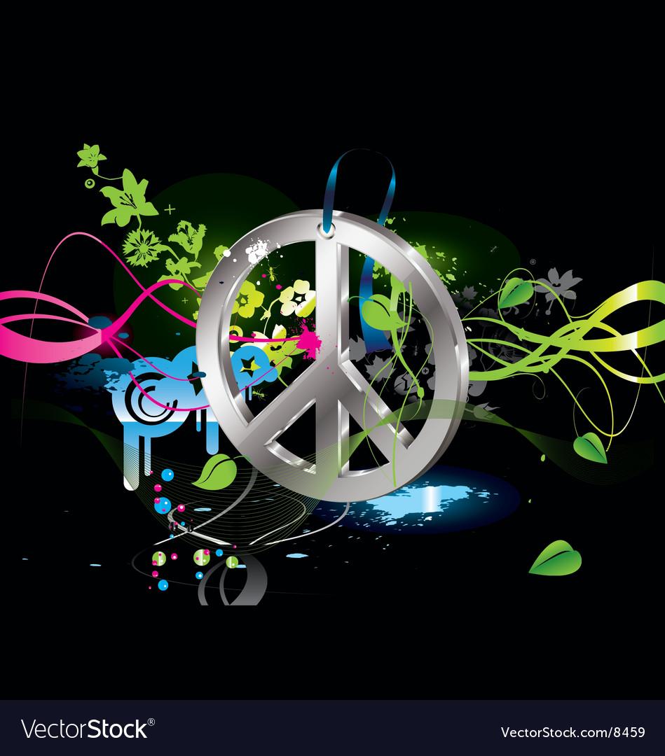 Hippie symbol vector   Price: 3 Credit (USD $3)