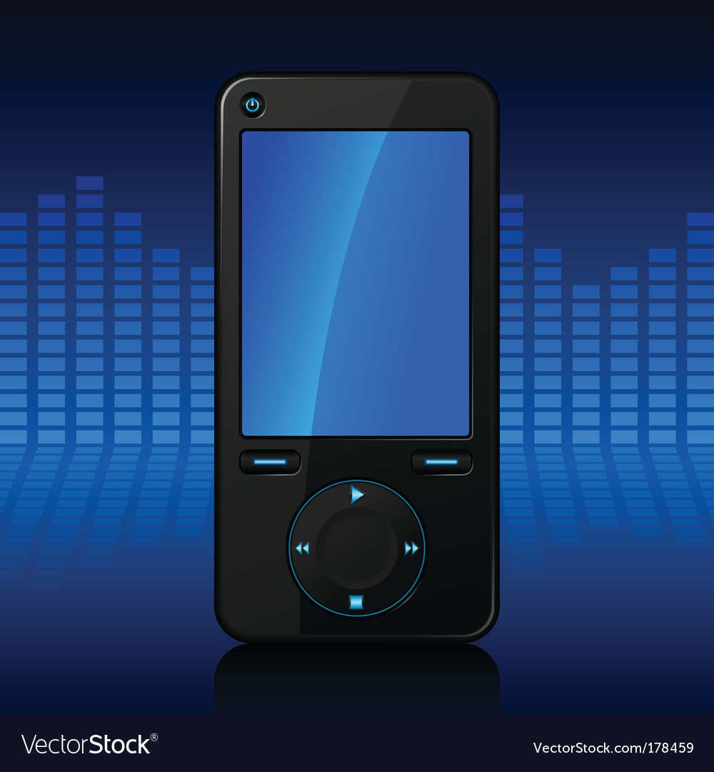 Portable media player vector | Price: 1 Credit (USD $1)