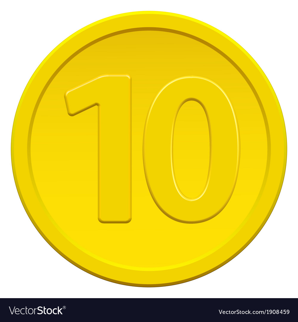 Ten coin vector | Price: 1 Credit (USD $1)