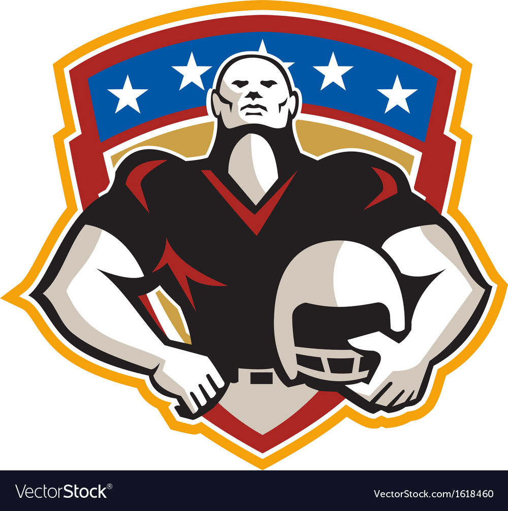 American football tackle linebacker helmet shield vector | Price: 1 Credit (USD $1)