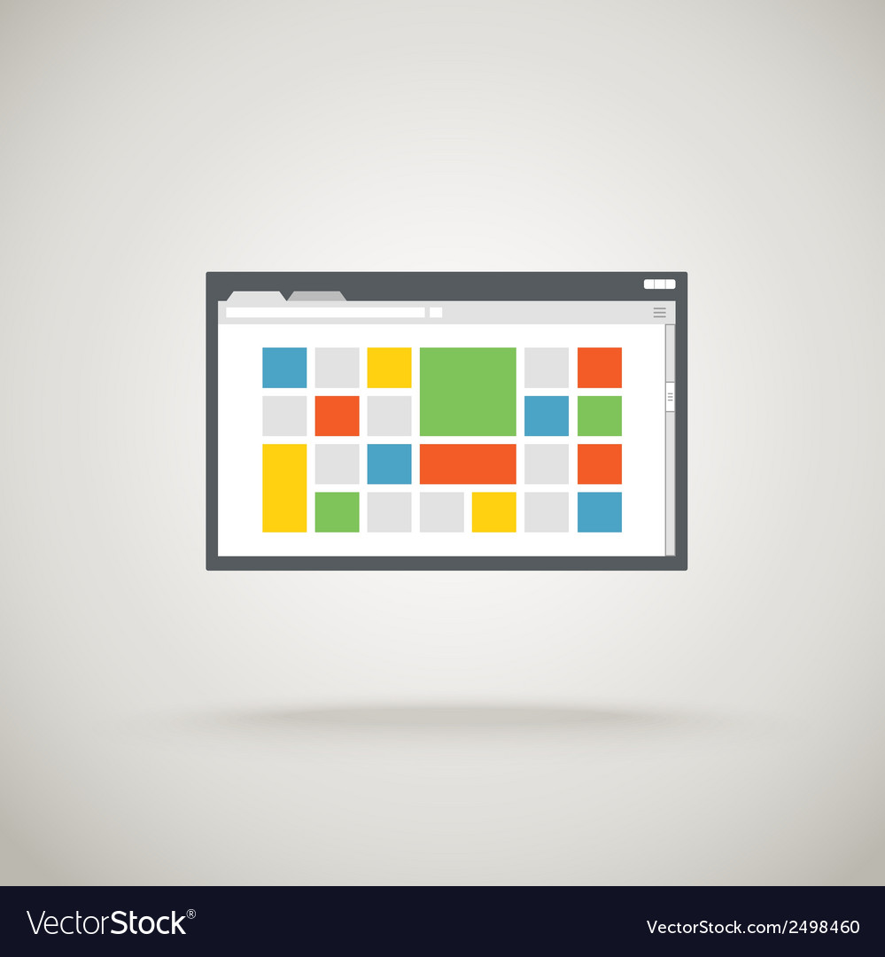 Browser window with color tile vector | Price: 1 Credit (USD $1)