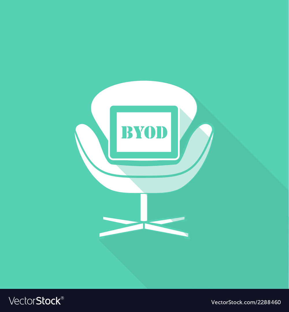 Byod flat long shadow design vector | Price: 1 Credit (USD $1)