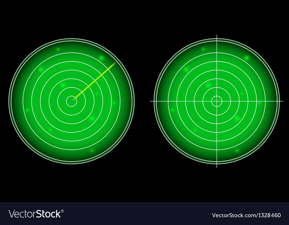 Glowing radar screen with luminous targets vector | Price: 1 Credit (USD $1)
