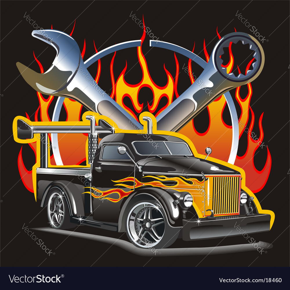 Hotrod vector | Price: 5 Credit (USD $5)