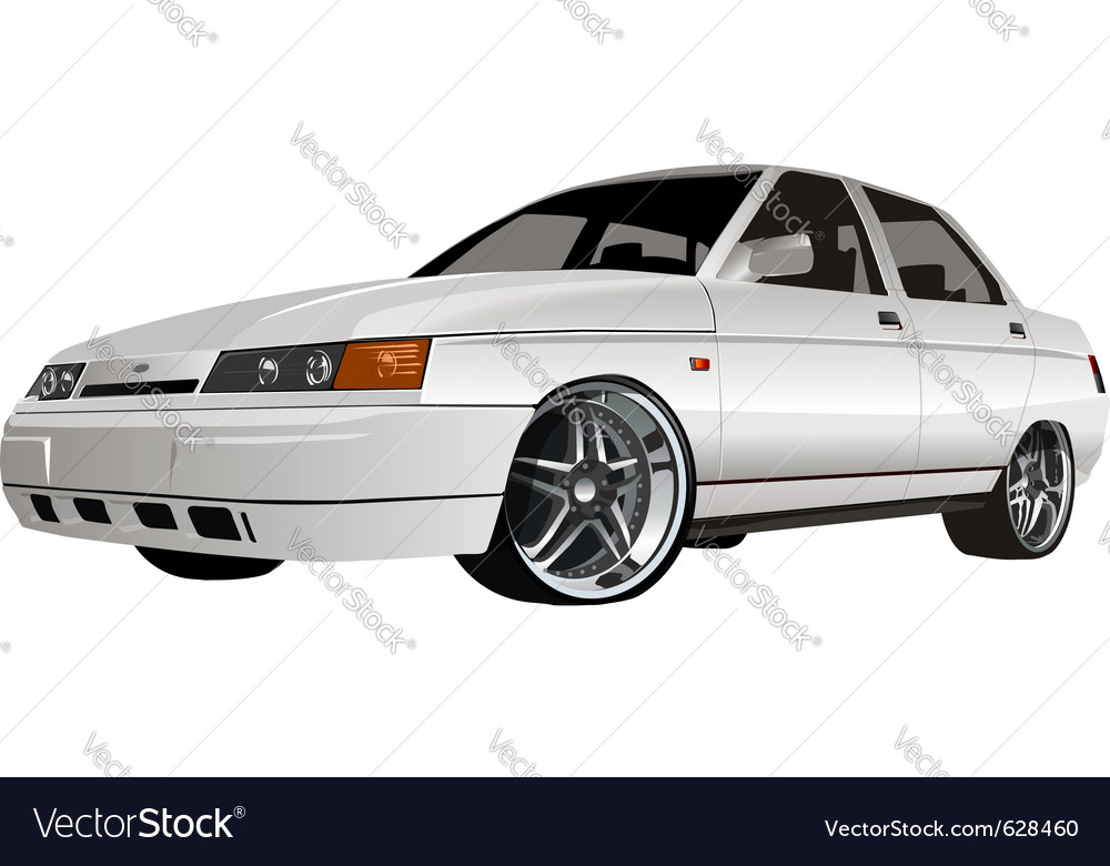 Modern car vector | Price: 3 Credit (USD $3)