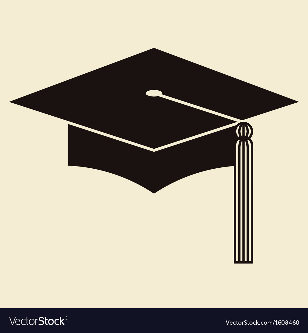 Mortar board or graduation hat vector | Price: 1 Credit (USD $1)