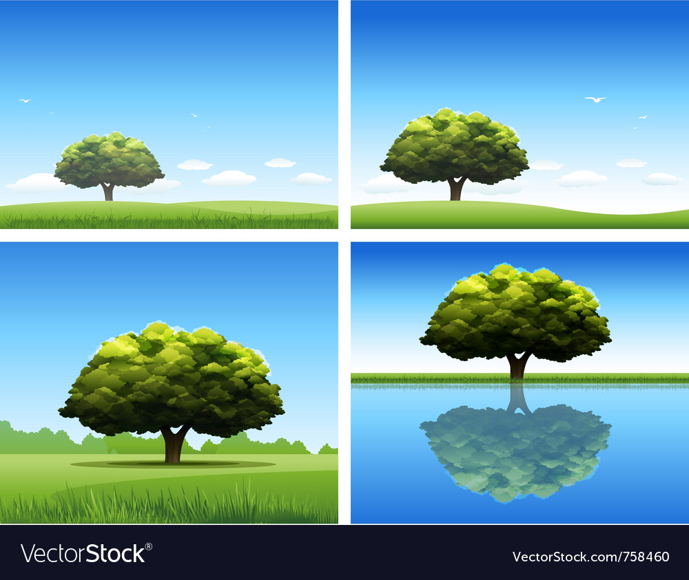 Oak tree background vector | Price: 1 Credit (USD $1)