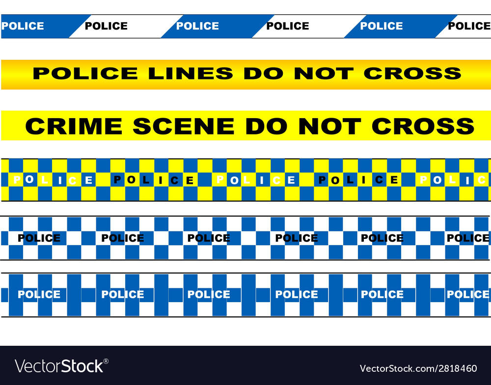 Police tape vector | Price: 1 Credit (USD $1)