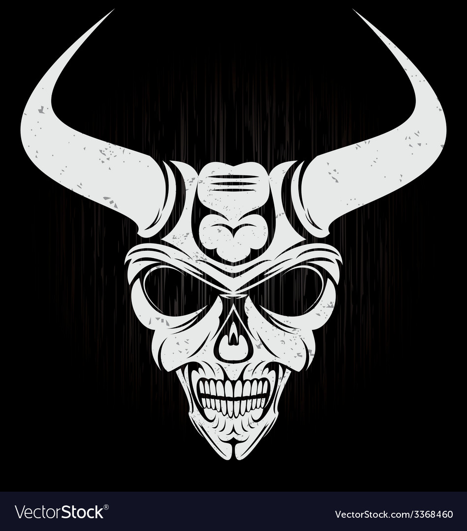 Scary demon face vector   Price: 1 Credit (USD $1)