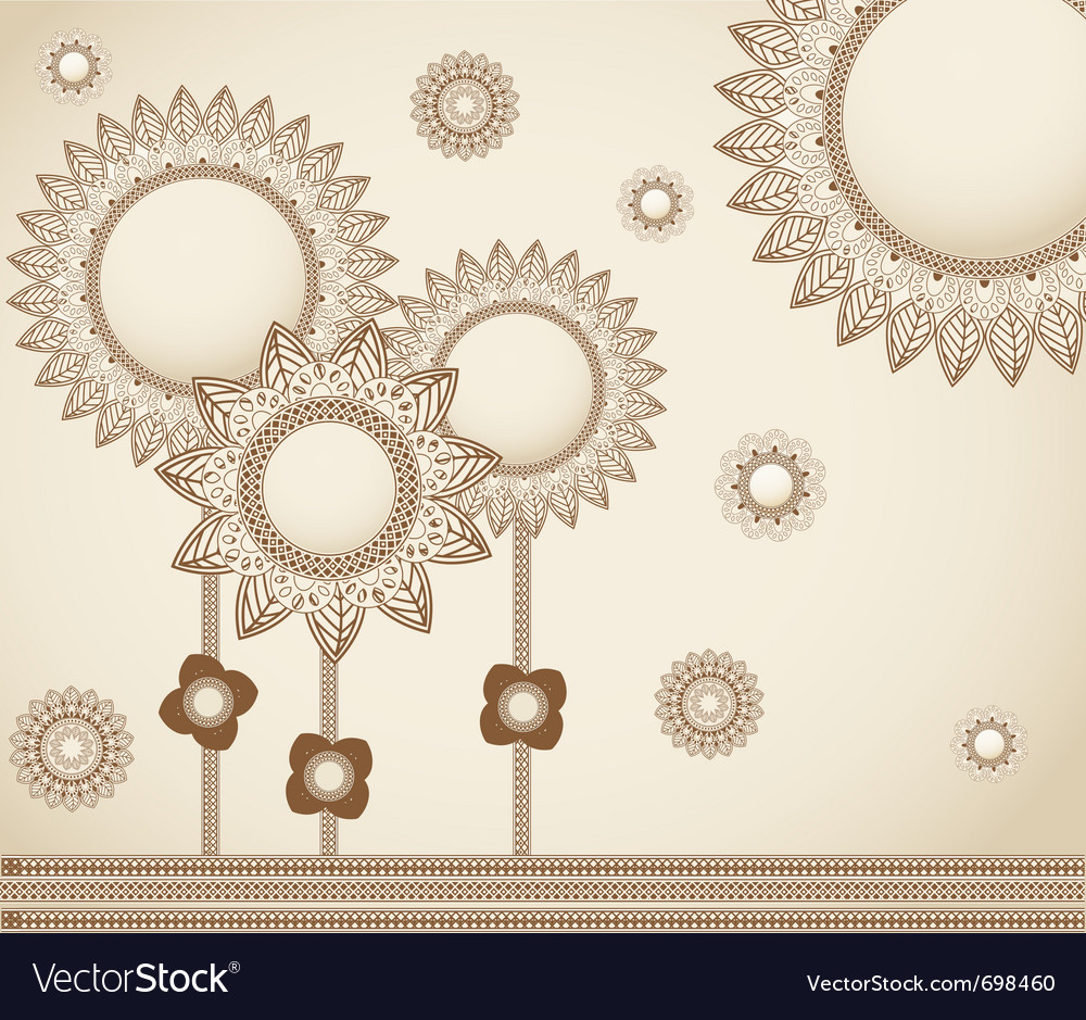 Sketch flowers background vector   Price: 1 Credit (USD $1)