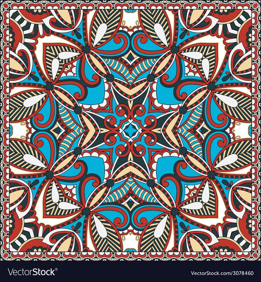Traditional ornamental floral paisley bandanna you vector | Price: 1 Credit (USD $1)