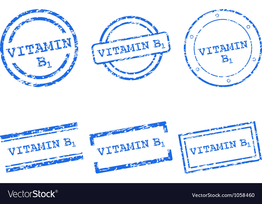 Vitamin b1 stamps vector | Price: 1 Credit (USD $1)