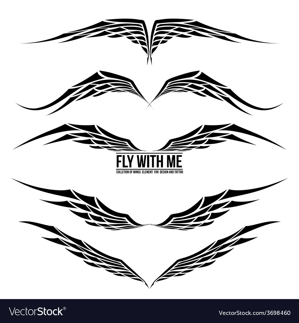 Wing element for design 002 vector | Price: 1 Credit (USD $1)