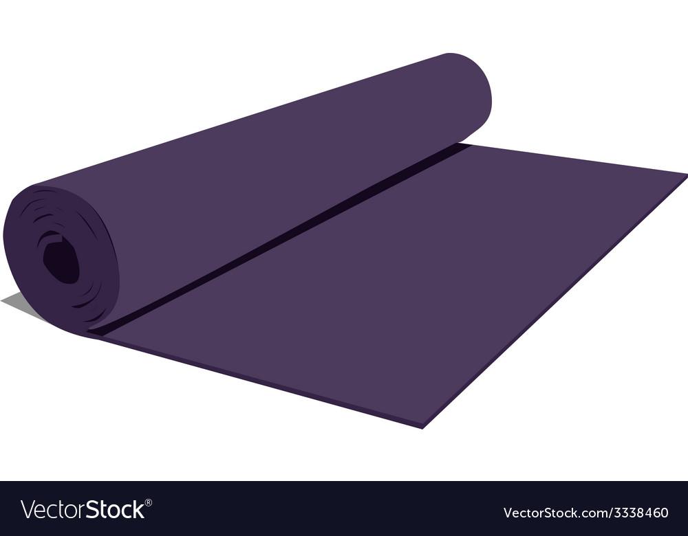 Yoga mat vector | Price: 1 Credit (USD $1)