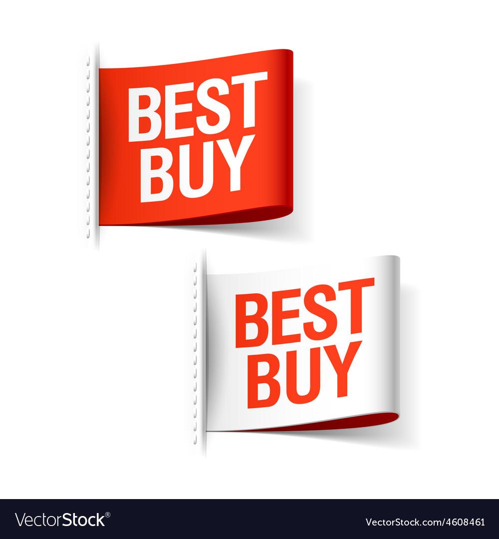 Best buy labels vector | Price: 1 Credit (USD $1)