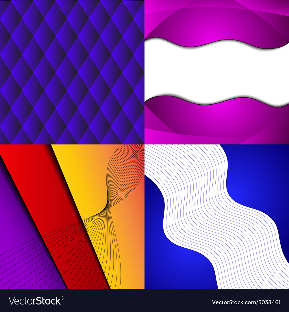 Collection of abstract multicolored backgrounds vector | Price: 1 Credit (USD $1)