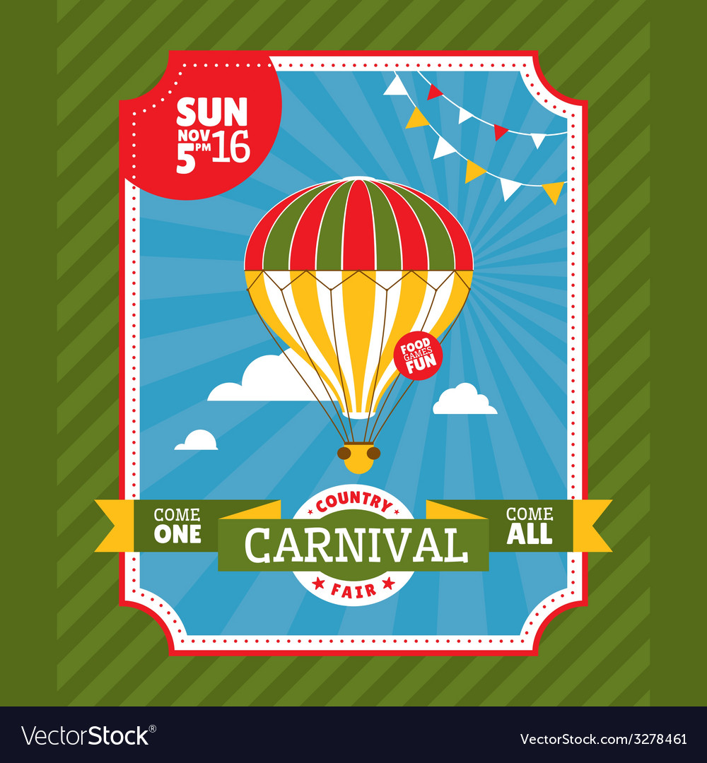 Country fair invitation card vector | Price: 1 Credit (USD $1)