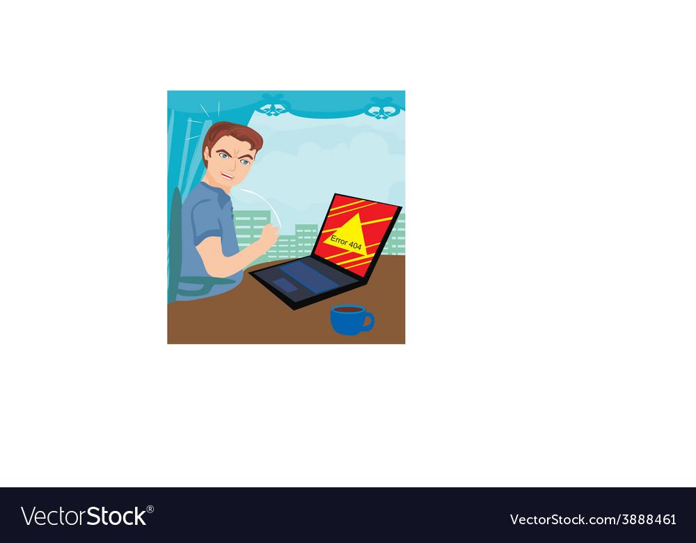 Error 404 - computer bug at work vector | Price: 1 Credit (USD $1)