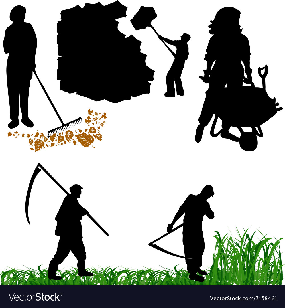 Farmer-gardner vector | Price: 1 Credit (USD $1)