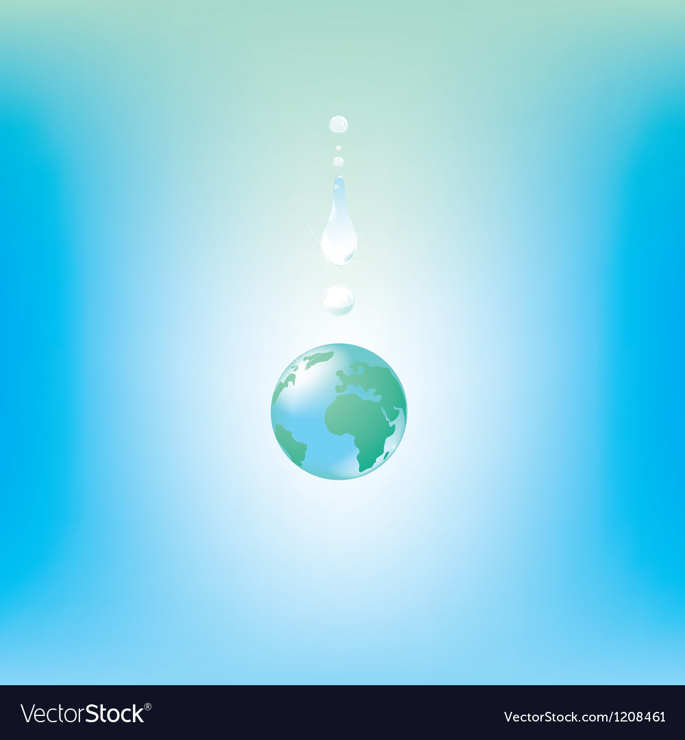 Globe drop vector | Price: 1 Credit (USD $1)