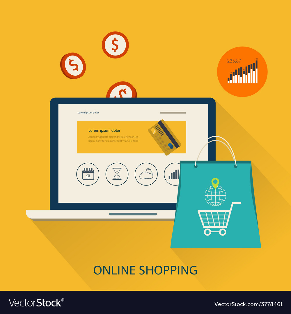 Icons for mobile marketing and online shopping vector | Price: 1 Credit (USD $1)