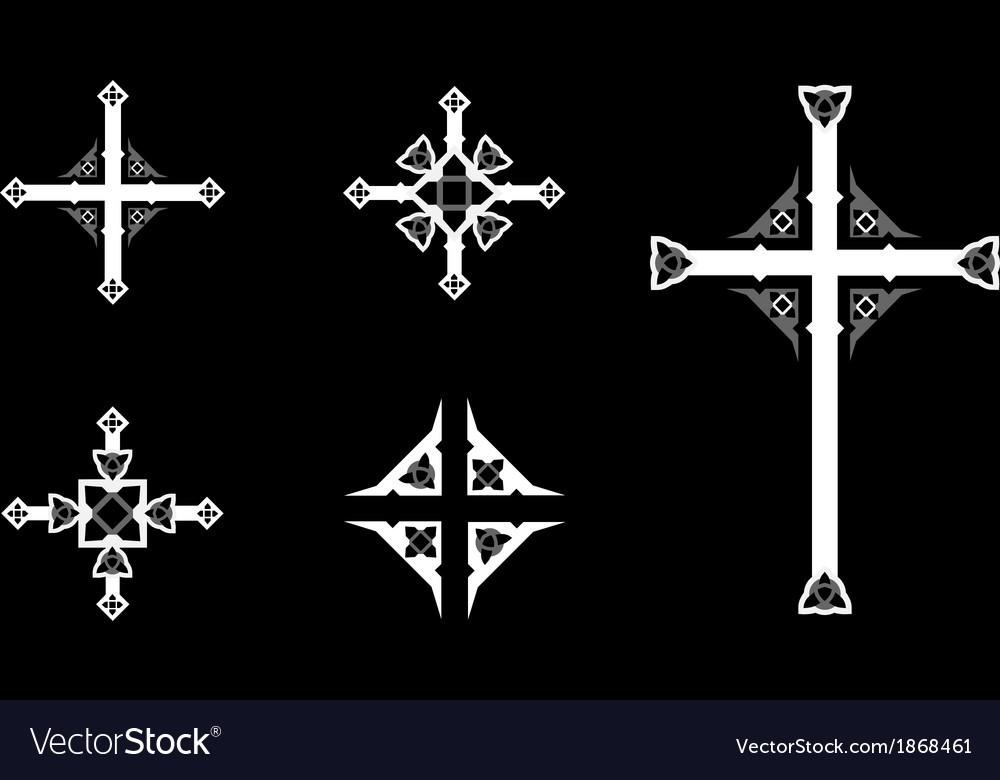 Ornate crosses vector | Price: 1 Credit (USD $1)