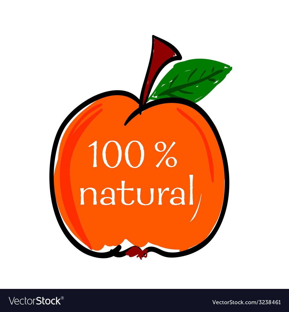 Peach natural color vector