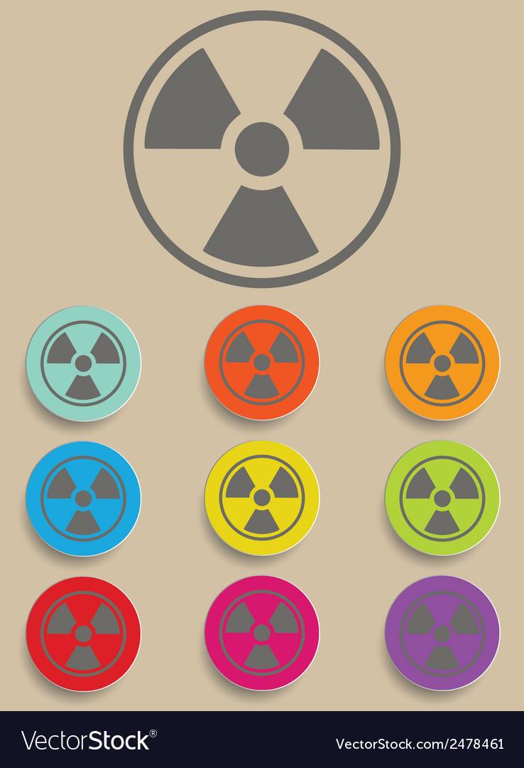 Radiation sign - vector | Price: 1 Credit (USD $1)