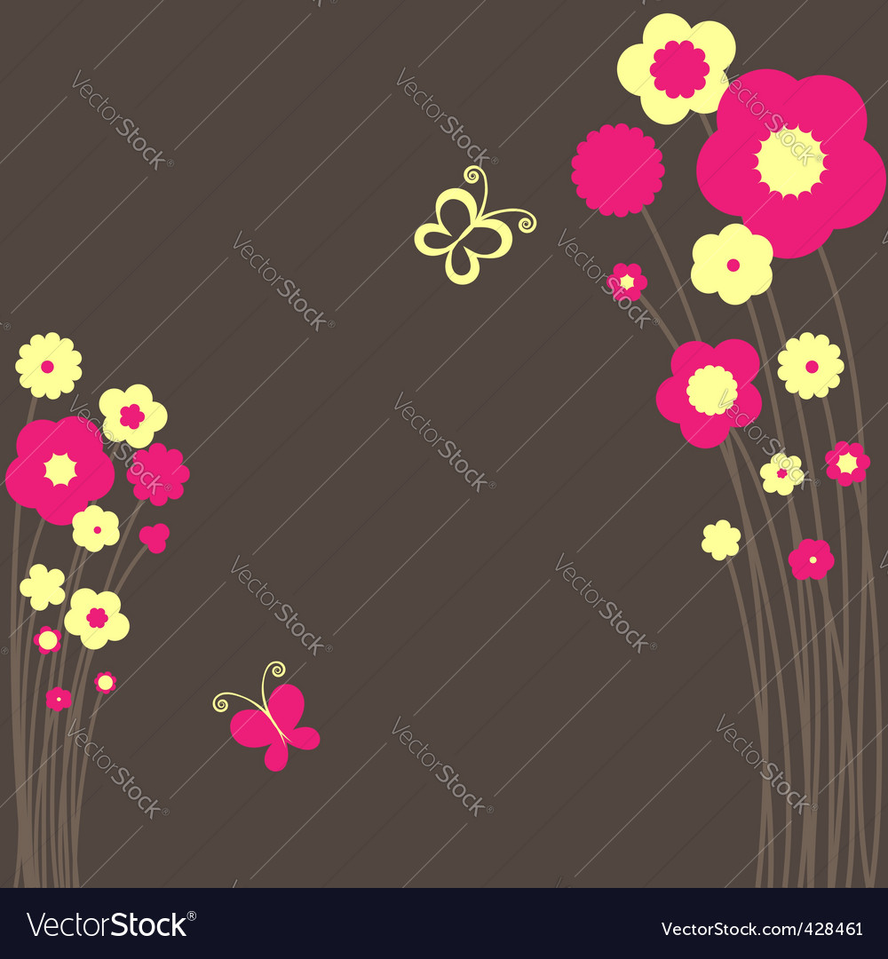 Springtime floral butterfly vector | Price: 1 Credit (USD $1)