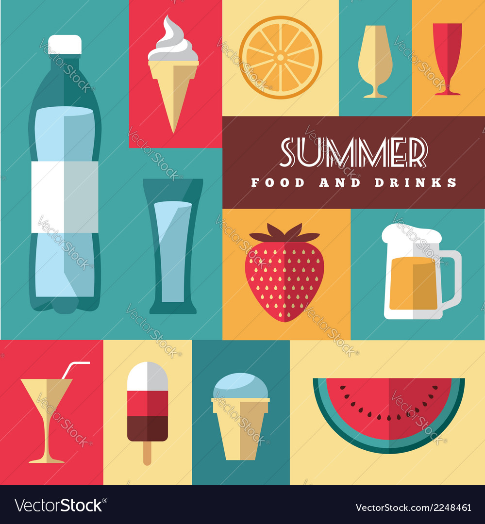 Summer icons set 3 vector | Price: 1 Credit (USD $1)