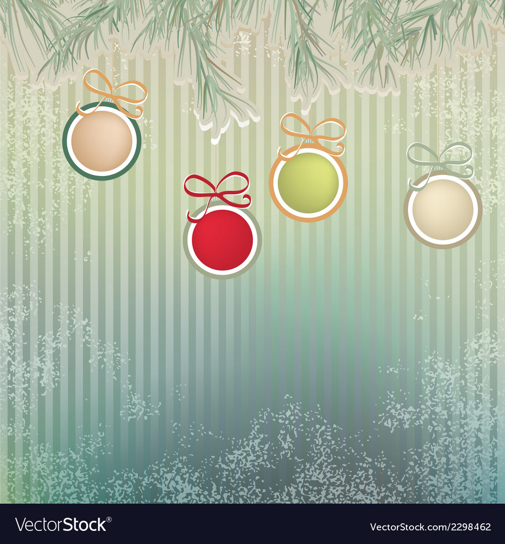 Christmas background with retro balls  eps8 vector | Price: 1 Credit (USD $1)
