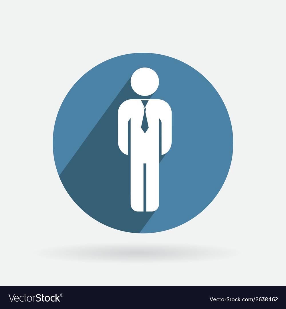 Circle blue icon business man in a tie vector | Price: 1 Credit (USD $1)
