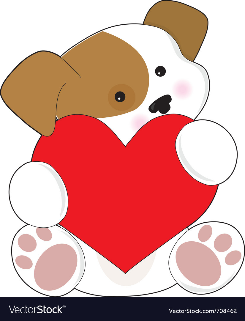 Cute puppy valentine vector | Price: 1 Credit (USD $1)