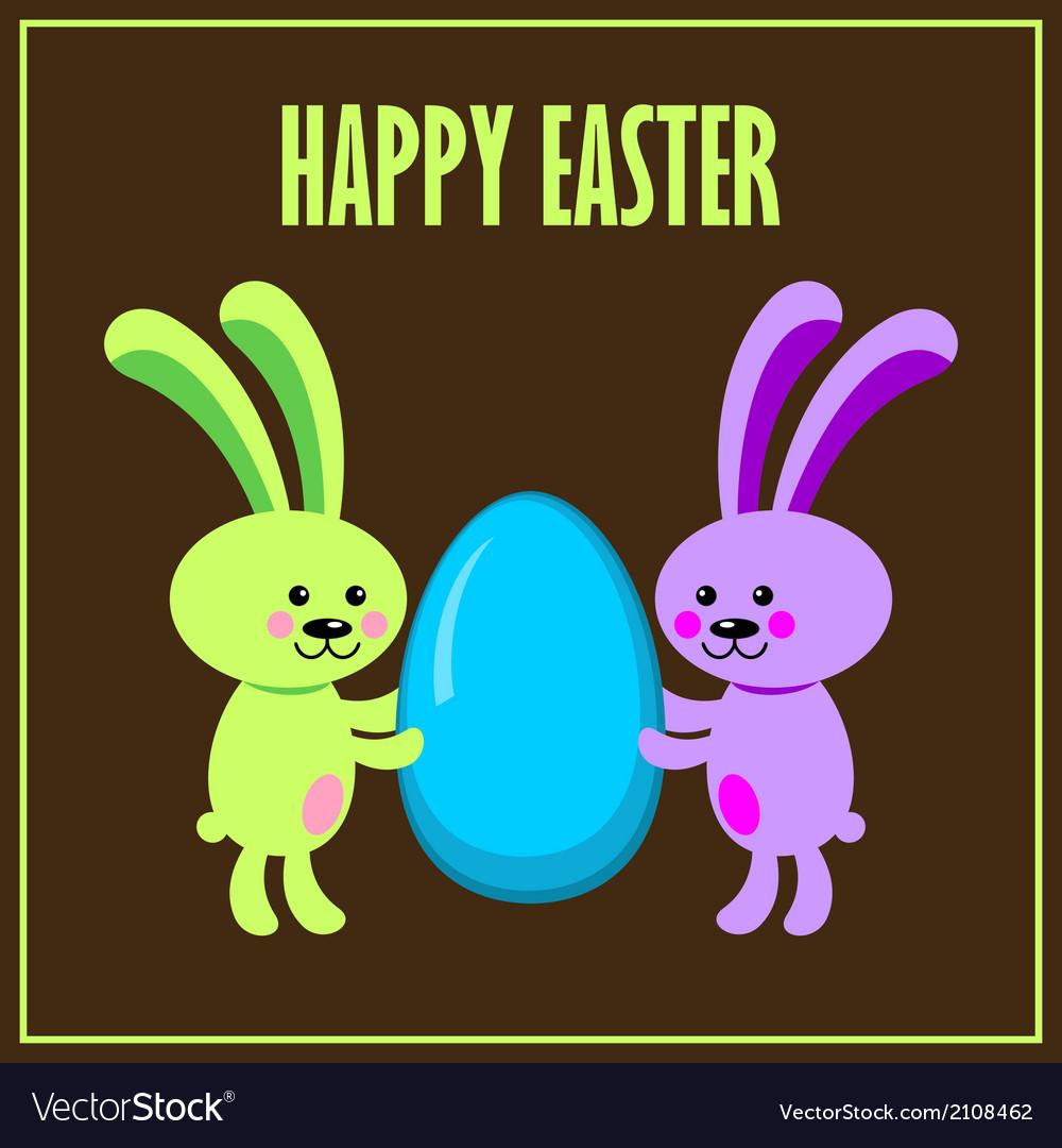 Easter bunnies vector   Price: 1 Credit (USD $1)