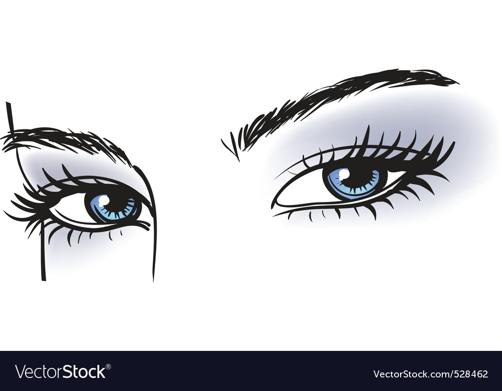 Female blue eyes vector | Price: 1 Credit (USD $1)