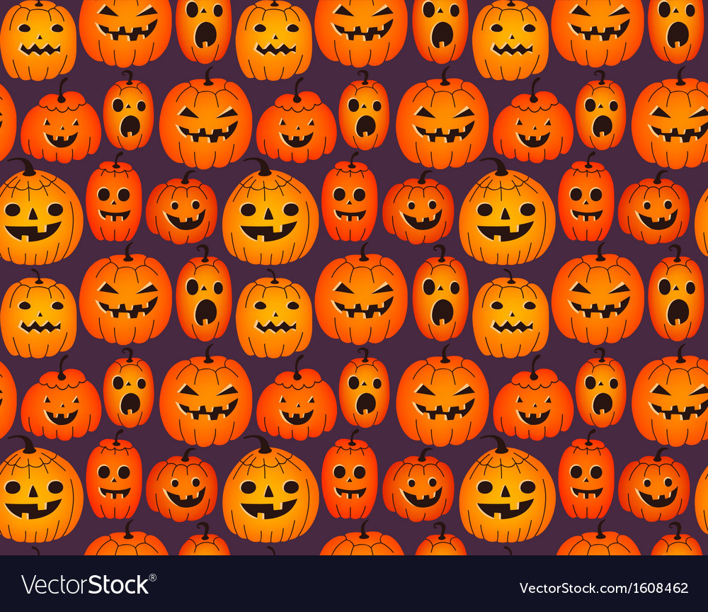 Halloween background with funny pumpkins vector | Price: 1 Credit (USD $1)