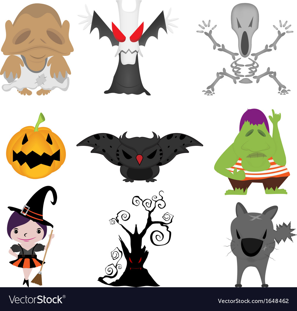 Halloween items vector | Price: 1 Credit (USD $1)