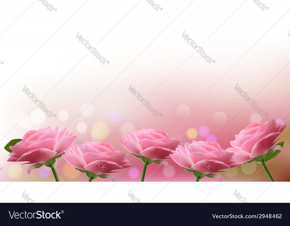 Holiday background with pink flowers vector | Price: 1 Credit (USD $1)