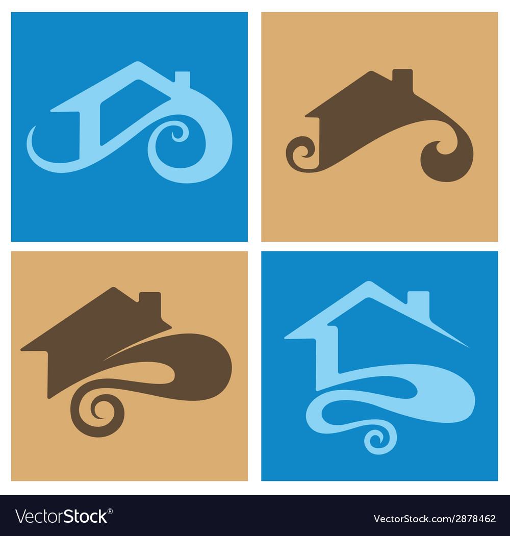 Home emblems vector | Price: 1 Credit (USD $1)