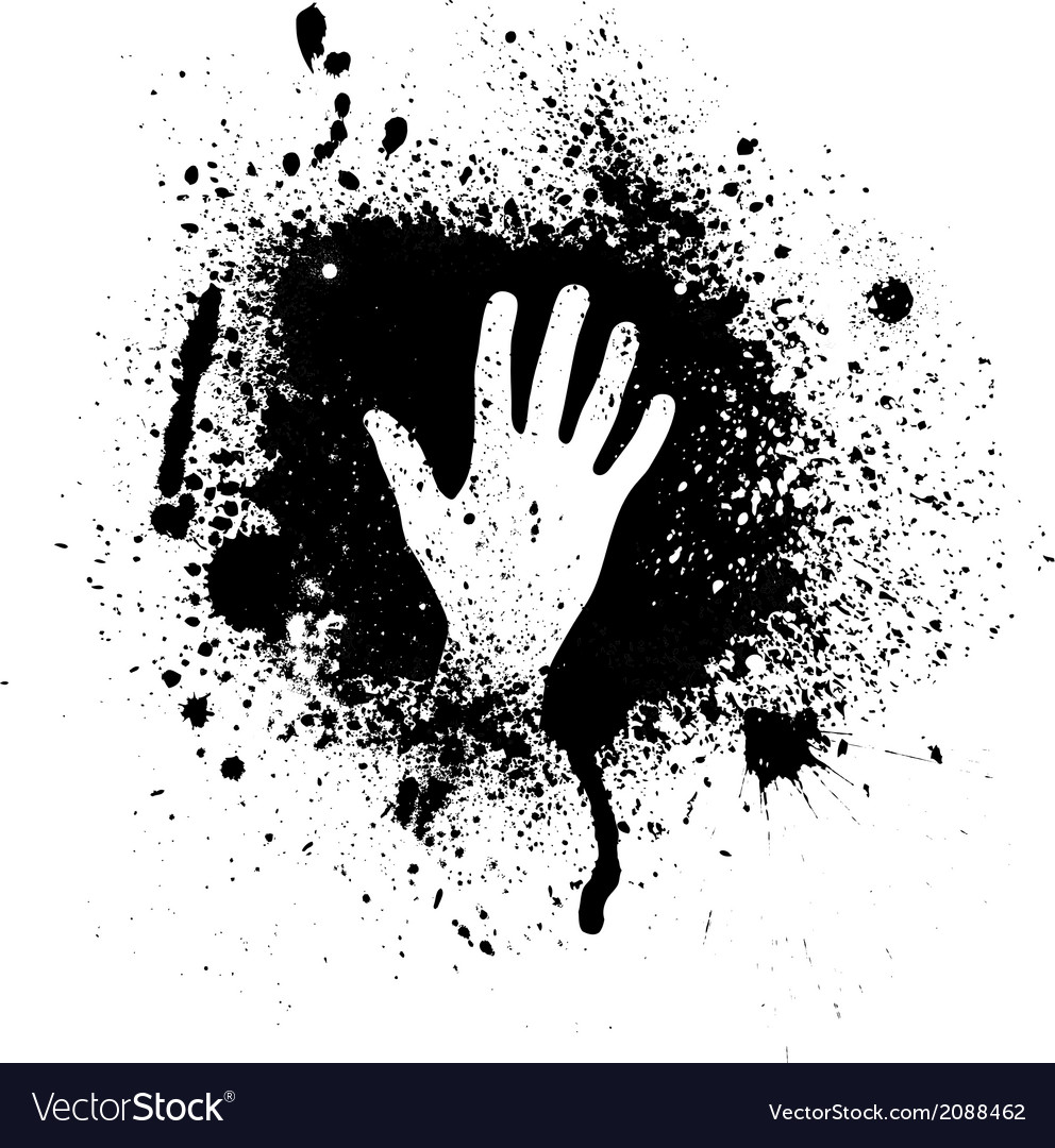 Ink blots and hand vector | Price: 1 Credit (USD $1)