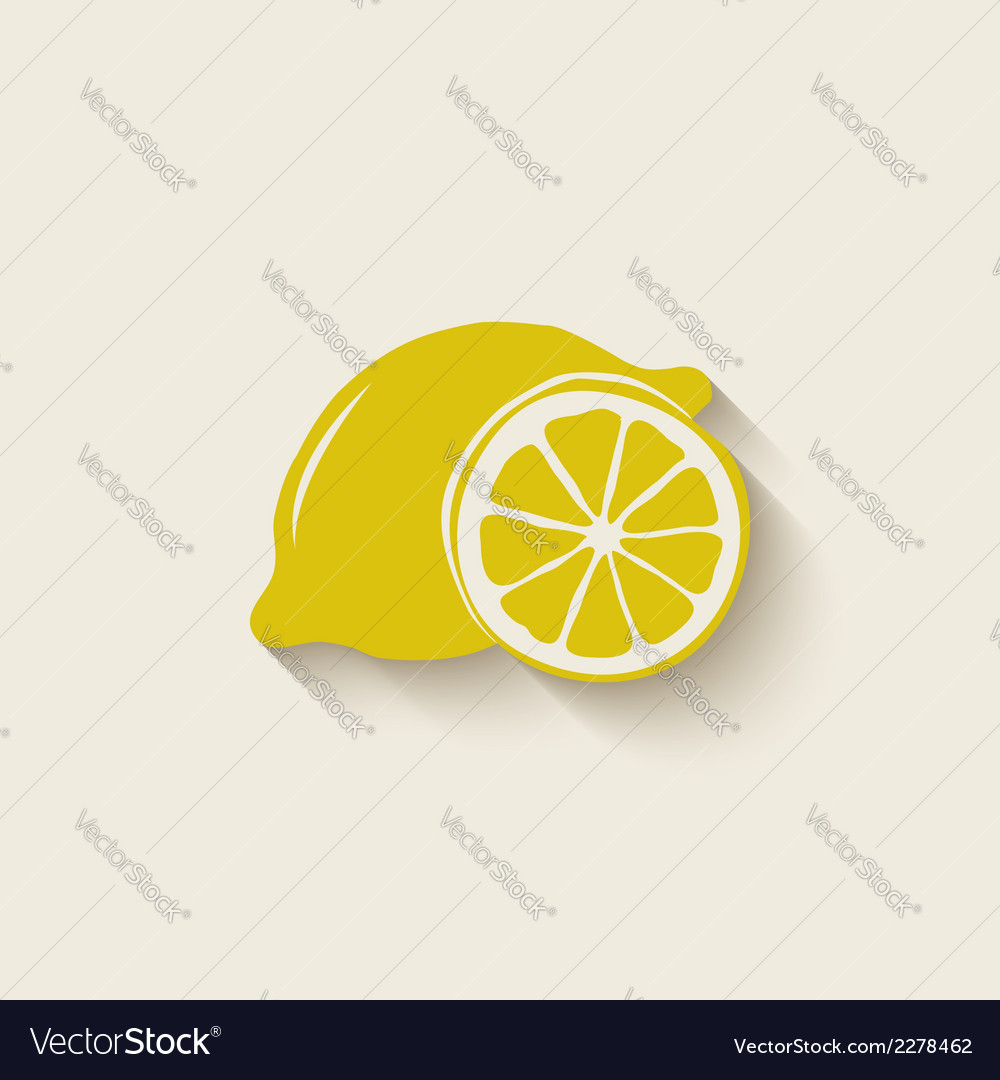 Lemon fruit icon vector | Price: 1 Credit (USD $1)