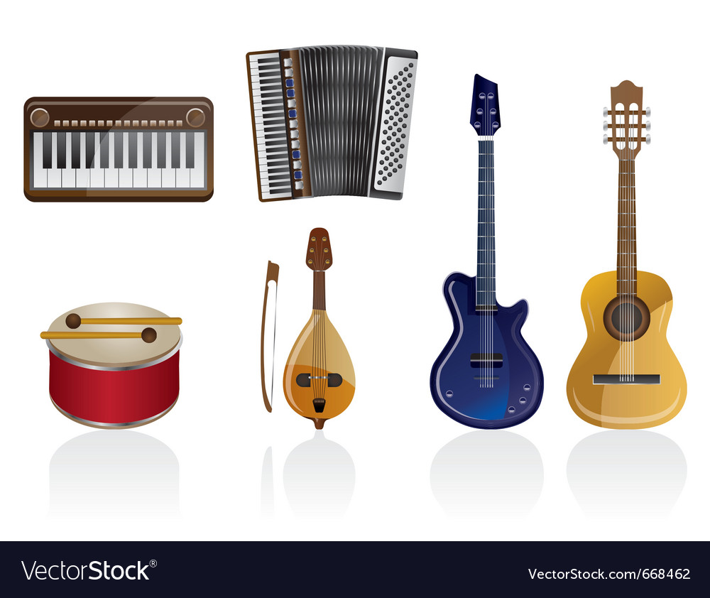 Music instrument icons vector | Price: 1 Credit (USD $1)