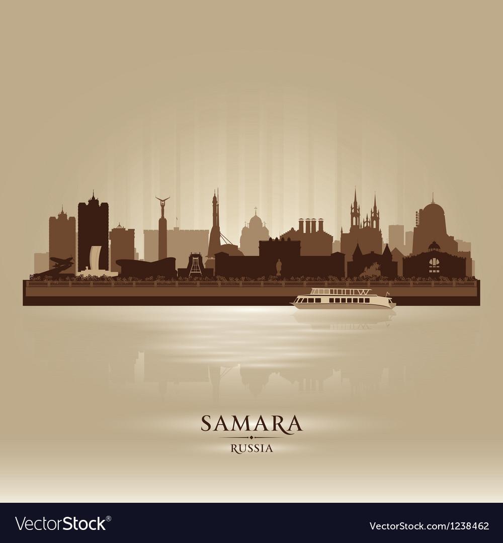 Samara russia skyline city silhouette vector | Price: 1 Credit (USD $1)